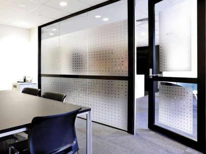 Frosted with transparent squares INT 470